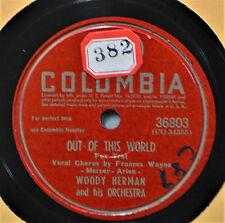Woody Herman Out of This World Frances Wayne Female Vocal 78 Apple Honey BigBand