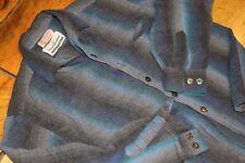 Vtg 1950s SHADOW PLAID Shirt L Rockabilly Loop Collar Made in California