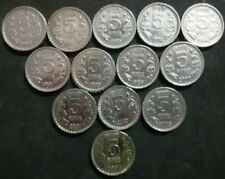 India-republic 5 Rupees, 1992 TO 2004: 13 COINS YEARWISE IN V F TO X F CONDITION