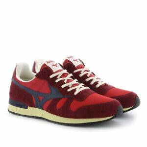 Mizuno Casual Trainers Sneakers Shoes ML87 Red Blue