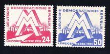Germany DDR 78-79 Mi282-83 MNH 1951 Leipzig Fair Set Very Fine