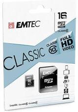 Scheda Micro SD 16GB EMTEC Class 10 memory Card 16 GB microsd per Video Full HD