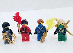 LEGO Ninjago Rebooted Techno Robe Cole, Lloyd, Jay, Kai Minifigures Weapons Lot