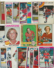 Guy Lafleur Lot of 19 Hockey Cards with 1972-73 O-Pee-Chee 2nd year. OPC