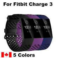 For Fitbit Charge 3 Band Replacement Wrist Sport Silicone Smart Watch Band S & L