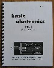 Tube Audio book- Basic Electronics V1 Power Supplies Mcintosh Fisher EV TUBE AMP