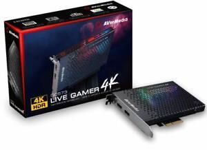 AVerMedia Live Gamer 4K HDR Capture Record Edit Gameplay RGB Lighting PCI-E HDMI