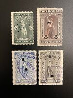 Canada: British Columbia Ontario Quebec - Law Tax Stamp Lot Of 4 Van Damme Used