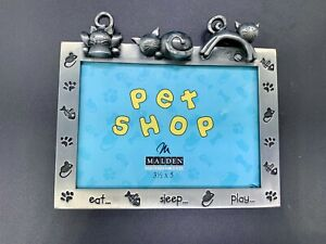 CAT KITTEN PICTURE FRAME EAT SLEEP PLAY PET SHOP MALDEN