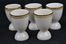 Set of 5 T&V Limoges Egg Cups Wright Tyndale Philadelphia Double Fancy Gold