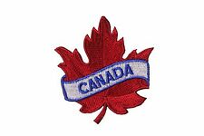 CANADA RED MAPLE LEAF IRON-ON PATCH CREST BADGE . SIZE : 2.5 X 2.5 INCH