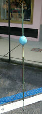 "Antique 66"" Lighting Rod w/ Blue Glass Ball and Tripod Stand"