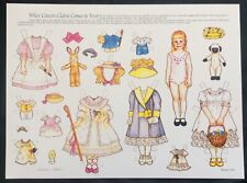 When Cousin Claira Comes To Visit Paper Doll by Theresa Borelli, 1991