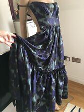 DEREK LAM 100% Silk Evening Dress, Italy, Size XS-S, RRP $ 4900