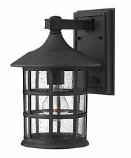 Hinkley Black 1 Light Led Outdoor Wall Sconce Freeport Collection 1804Bk-Led