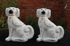 "VINTAGE Pair of 12"" Portugese 'Alcobaca' China/Porcelain PEKINESE Dogs"