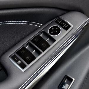 Car Door Glass Lifting Buttons Cover Sticker For Mercedes Benz C E Class CLA GLA