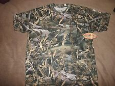Fishouflage Performance Polyester BASS Fishing Camo Tee T Shirt NWT L Large (B2)