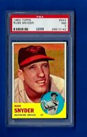 1963 TOPPS BASEBALL #543 RUSS SNYDER HIGH NUMBER PSA 7 NM BALTIMORE ORIOLES