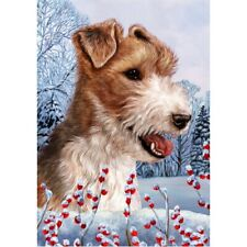 Winter House Flag - Wire Fox Terrier 15067