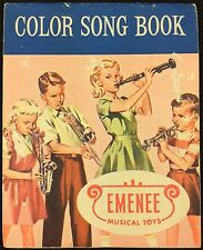 Emenee Musical Toys Color Song Book 1956