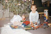 Vintage 1950s Red Border Kodachrome 35mm Slide Christmas Presents Retro Toys