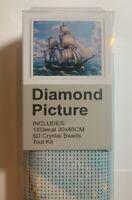 NEW 5D SAILING SHIP Diamond Painting Full ROUND Drill Kit 30cm x 40cm