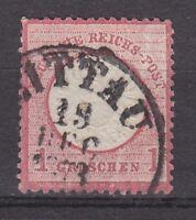 """DR - MiNr. 19, gr. BS -  K1 """"ZITTAU"""", 19 Dec 1873 (AD Sachsen - Feuser SA 340) !"""