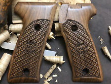 Astra A80, A90, A100 Walnut Wood Grips. Fish Scale Pattern. Us Based Seller.