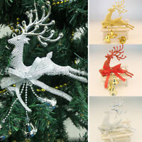 Gold/Silver/Red Cute Deer Christmas Tree Decor Ornaments Hanging Xmas Baubles