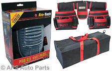 """New Double Tool And Nail Punch Gel Knee Pads Pro Canvas 18"""" Tool Bag Storage DIY"""