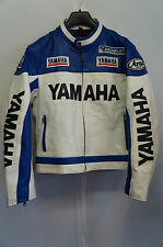 VINTAGE REAL LEATHER MOTORCYCLE RACING YAMAHA JACKET SIZE S