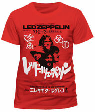 LED Zeppelin T-shirt - Japanese Promo Poster Small Orange