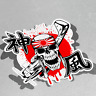 Skull Kamikaze Bandage Vinyl Sticker Decal Window Car Van Bike 2945