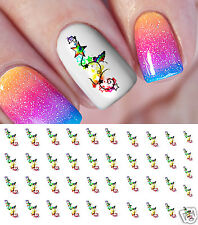 Rainbow Butterfly Star Nail Art Waterslide Decals - Salon Quality!
