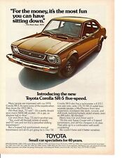 1974 TOYOTA COROLLA  ~  CLASSIC ORIGINAL PRINT AD