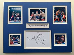 """Boxing Miguel Cotto Signed 16"""" X 12"""" Double Mounted Display"""