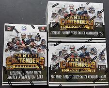 3x NFL Panini Contenders 2015 Football 8-Pack Box Sealed/OVP 1 Hit!!