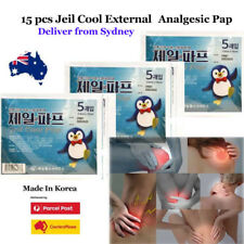 """15 Pcs Pain Relief Patch """"Cold"""" External use Analgesic Jeil Pap Made in Korea"""
