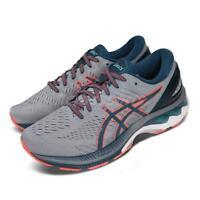 Asics Gel-Kayano 27 2E Wide Grey Blue Orange Men Running Shoes 1011A835-021