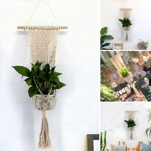 Macrame Boho Wall Hanging Tapestry Plant Hanger Handmade Home Living Room Decor