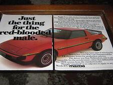 MAZDA RX7 Pubblicità, PNEUMATICI GOODYEAR VAUXHALL CAVALIER, PIRELLI pubblicità PORSCHE 924