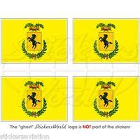 "NAPLES Province Flag ITALY Provincia di Napoli 50mm(2"") Bumper Sticker-Decal x4"