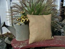 lot of 12 Burlap Pillow 24x24 Throw Decorative French Country Farmhouse covers