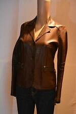 BENEDETTA NOVI   chocolate leather jacket