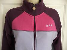 Burton Small S Jacket Sweatshirt Full Zip Purple Pink Embroidered Stars Ladies