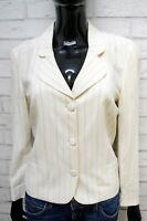 KRIZIA POI Donna Taglia 44 Giacca Slim Bianca Blazer Cappotto Jacket Woman White