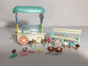 Calico critters/sylvanian families Ice Cream Cart With Accessories