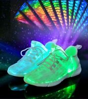 Led Fiber Optic Shoes Girls Boys Men Women USB Rechargeable Glowing Sneakers Top