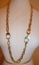 "NWT COACH Signature C Gold Plated 36"" LONG CHAIN NECKLACE 99960"
